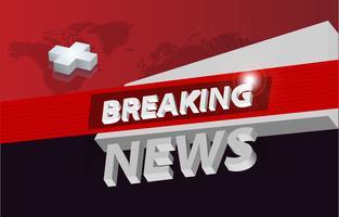 Grafisk 3d breaking news bakgrund koncept serie 04 vektor