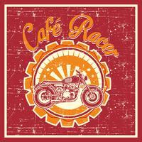Grunge-Stil von Cafe Racer Abzeichen - Vektor