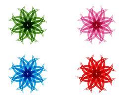 Blommablommönster på en vit bakgrund vektor