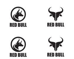 Stierhornlogo und Symbolschablonenikonen