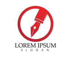 Fjärrpenna skriv skylt logotyp mall app ikoner