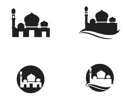 Moscheenikonenvektorillustrations-Designschablone vektor