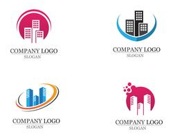 Apartment-Logo-Design für Geschäftsunternehmenszeichen vektor