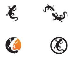 Eidechsenvektor-Ikonenlogo und Symbolschablone