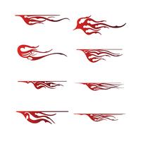 Stammes-Fahrzeug Grafik, Flamme Fahrzeug Grafik Wrap Design
