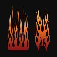 Feuerflammen im Tribal Style für Tattoo-, Fahrzeug- und T-Shirt-Deko-Design. Fahrzeuggrafiken, Streifen, Vinyl Ready-Sammlungssatz