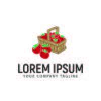 Tomaten hand gezeichnete Logo-Design-Konzept-Vorlage