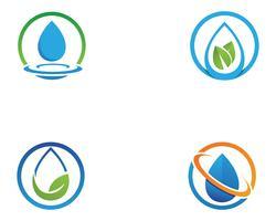 Wassertropfen Logo Template-Vektorillustrationsdesign vektor