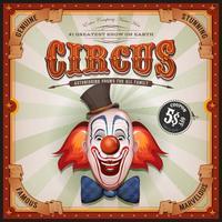 Weinlese-Zirkus-Plakat mit Clown Head