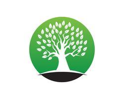 Trädgröna människor identitetskort vektor logotyp mall