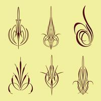 amerika pinstriping stil samling set
