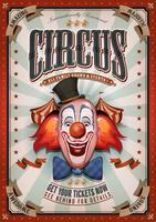 Vintage cirkusaffisch med stor topp