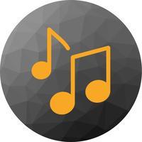 Vektor-Musiknoten-Symbol vektor