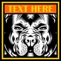 Mittlerer Bulldoggen-Maskottchen-Illustrationsvektor