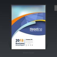Geometrische bunte Geschäftsbroschüre, Abdeckungsdesign, Flieger - Vector Illustration