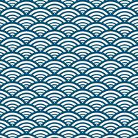 Blåvågmönster Bakgrund Japansk stil. Vektor illustration.
