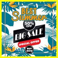 Vector Summer Stor försäljning är en bokstäver inskription handrit vektor