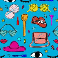 Muster mit Hand gezeichnetem Mode-Gestaltungselement-Hintergrund. Handgemachte Vektor-Illustration.