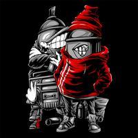 spray paint hip hop handritningsvektor