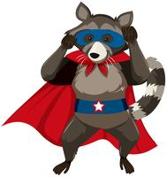 En skunk superhero karaktär vektor