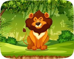 Lion i skogen vektor