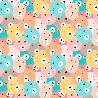 Gullig björnmönster bakgrund. vektor
