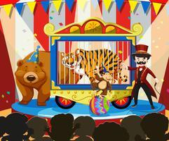 Tiershow am Karneval vektor