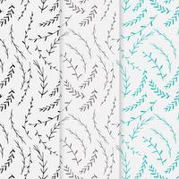 Übergeben Sie gezogenen botanischen Musterhintergrund, dekoratives mit Blumenmuster, Vektorillustration. vektor