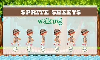 Sprite Sheet Boy Walking vektor