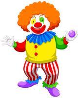 Clown hält eine Kugel vektor