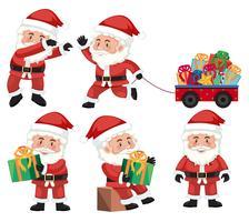Eine Reihe von Santa Action