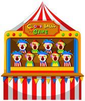 Clownbollspel på cirkusen vektor