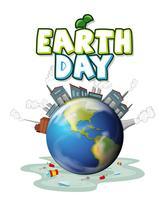 Ein Pollted Earth-Symbol