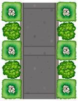 Eine Luftaufnahme der Straße vektor