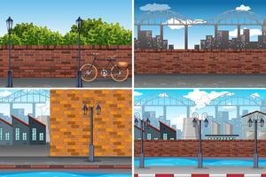 Städtischer Stadttageszeithintergrund