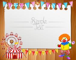 Border design med clown och circus