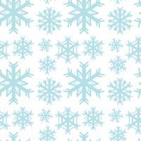 Sömlös bakgrundsmall med blå snöflingor