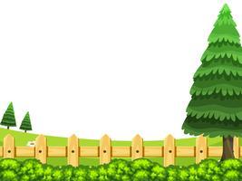 Ett trädgårds naturlandskap