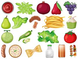Sats med färska grönsaker vektor
