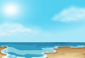 Naturküstenstrandszene vektor