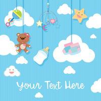 Hintergrunddesign mit Babyeinzelteilen