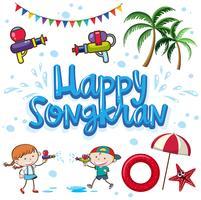 Lycklig Songkran Holiday Summer Festival vektor