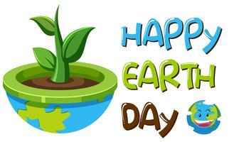 Ein Tag der Erde Symbol vektor