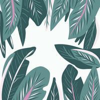handgjorda Tropiska blad sömlösa mönster vektor