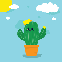 Kaktus-Vektor vektor