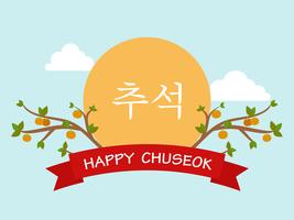 Chuseok eller Hangawi (koreanska Thanksgiving Day) mall bakgrund vektor