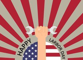 Lycklig Labour Day semester banner mall bakgrund vektor