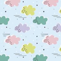 Vektor sömlöst mönster med färgstarka moln