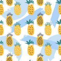 Ananas sommar vektor mönster