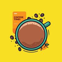 Kaffeklippart Vector